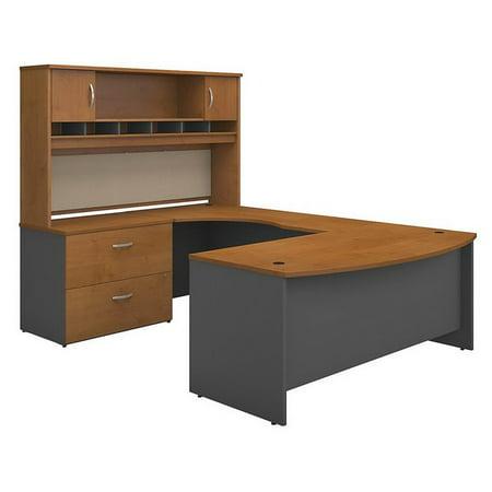 "Bush Business Series C 72"" Left U-Shaped Hutch Desk in Natural Cherry - image 7 de 7"