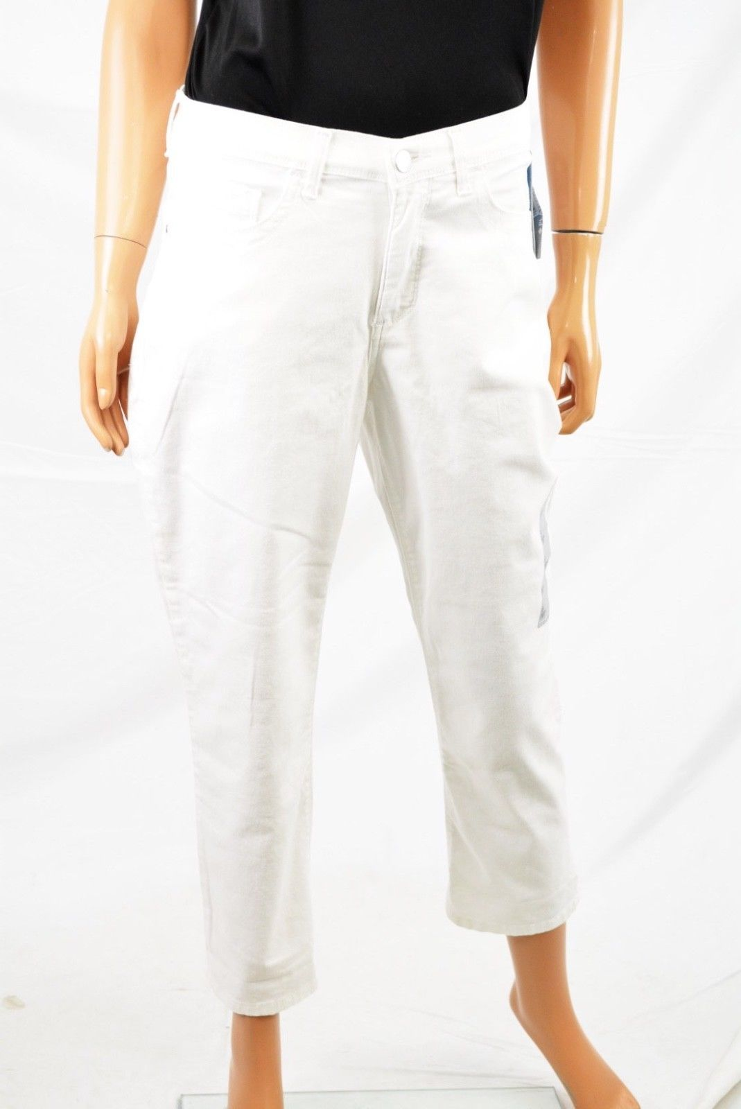 lee lee women s stretch white easy fit mid rise cameron capri cropped jeans 8 m walmart com