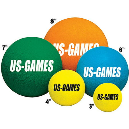 US-Games Uncoated Economy Foam Balls, - Wrecking Ball Games