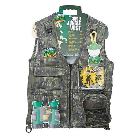 Backyard Safari Jungle Camo Cargo Vest - Safari Theme Dress Up