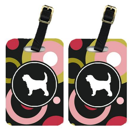 Pair of 2 Otterhound Luggage Tags