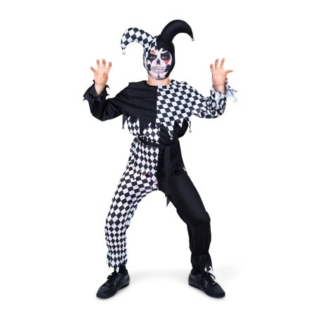 Child Evil Jester Costume - Evil Jester Kids Costume