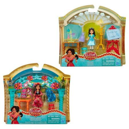 Hasbro Hsbc0383 Disney Princess Elena Of Avalor Small Doll   Scene  44  Assorted Colors   Set Of 4