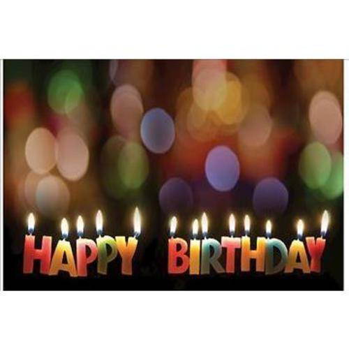 Happy Birthday Candles Postcard, Package of 25