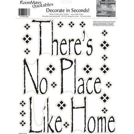 Roommates There Is No Place Like Home Peel And Stick Wall Decals  Single Sheet