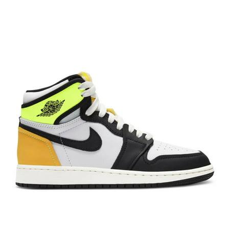 Air Jordan 1 Retro High Og Gs 'Volt Gold' - 575441-118 - Size 6.5Y - Big Kids