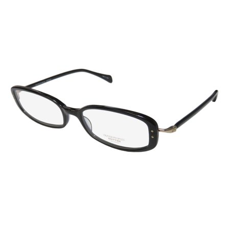 New Oliver Peoples Chrisette Womens/Ladies Designer Full-Rim Black / Gold Modern Sophisticated Frame Demo Lenses 49-17-137 (Oliver Peoples Optical)