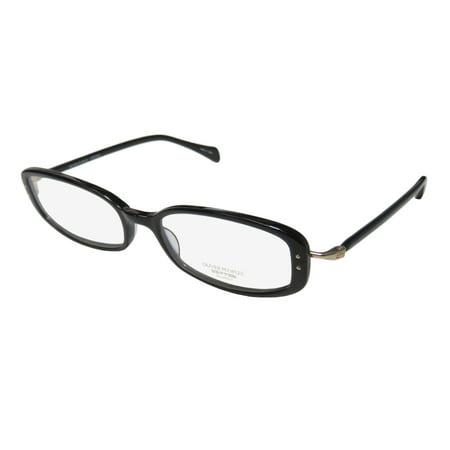 New Oliver Peoples Chrisette Womens/Ladies Designer Full-Rim Black / Gold Modern Sophisticated Frame Demo Lenses 49-17-137 Eyeglasses/Eyewear
