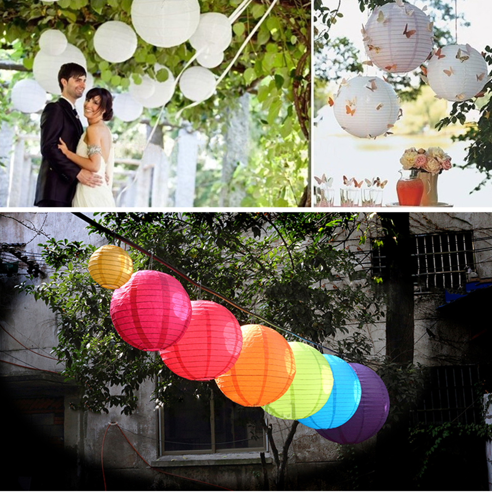 "Round 8"" Pink Chinese paper Lanterns for Wedding Party Hanging Decoration"