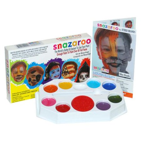 SNAZAROO Sparkle FACE PAINT PAINTING KIT-Kids - Face Painting Adults Halloween