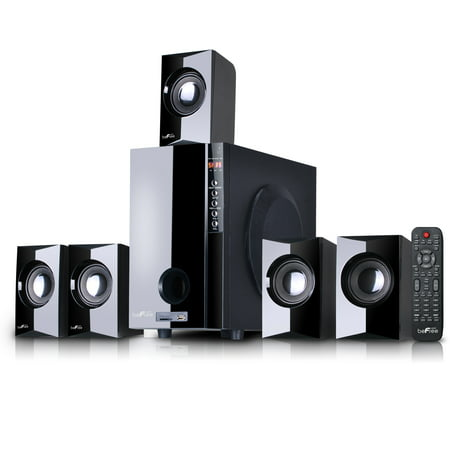 beFree Sound 5.1 Channel Surround Sound Bluetooth Speaker System in Black