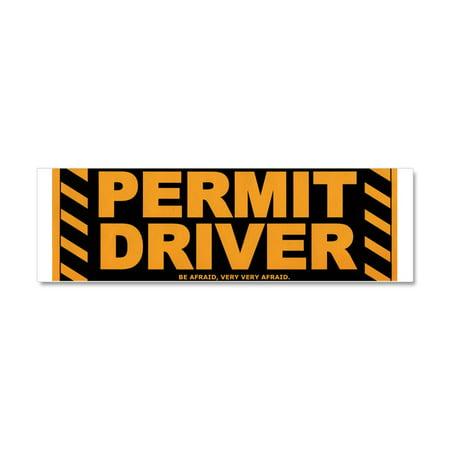 CafePress - Drivers Permit - Car Magnet 10 x 3