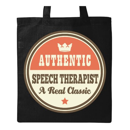 Speech Therapist Vintage Classic Tote Bag Black One Size