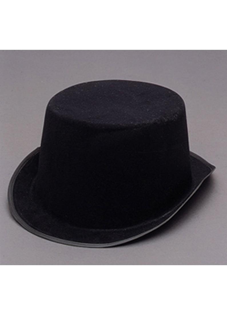 7cf3c8c20f39d6 Mens Short Black Top Hat Cap Topper Steampunk Victorian Charles Dickens -  Walmart.com