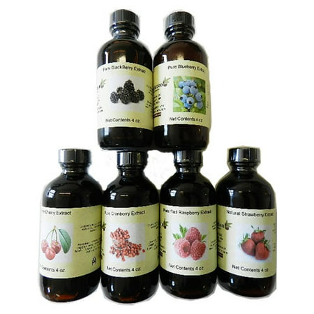 Wild Raw Berry Extract (Set of 6 Berry Extracts 4 oz ea. See below )
