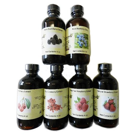 Set of 6 Berry Extracts 4 oz ea. See below
