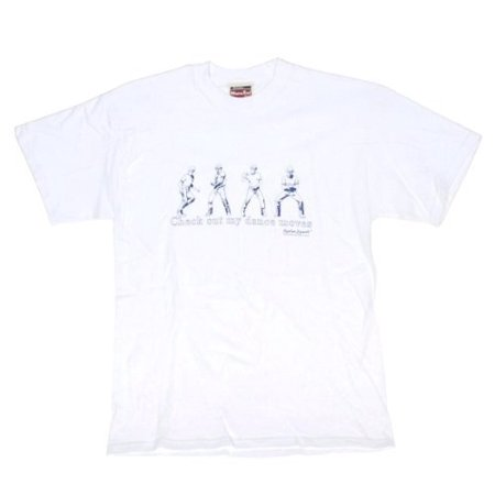Napoleon Dynamite Check Out My Dance Moves Adult White (Rock Out With My Guac Out T Shirt)