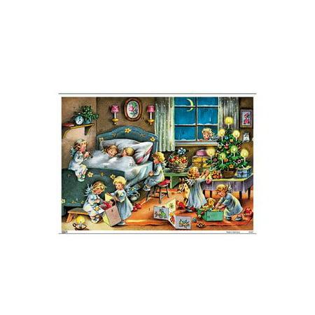 Alexander Taron Korsch Children in Bed with Angels Advent Calendar