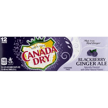 Canada Dry Blackberry Ginger Ale 12 Fl Oz 12 Count Walmartcom