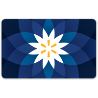 Basic Blue Flower Walmart Gift Card