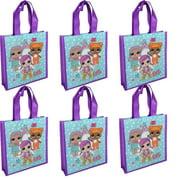 L.O.L. Surprise! Party Favor 6 pc Set of Mini Eco Friendly Tote Bag