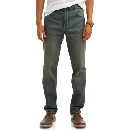 Men's 5 Pocket Straight Fit Jeans 5 Pocket Raw Denim