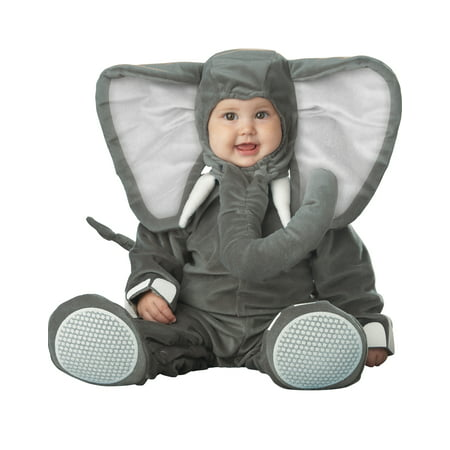 Gray Little Elephant Cute Animal Infant Baby Jumpsuit Costume