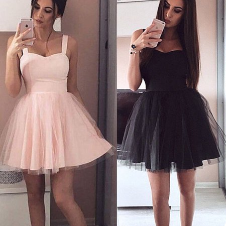 Women Formal Short Lace Tulle Dress Prom Evening Party Cocktail Bridesmaid