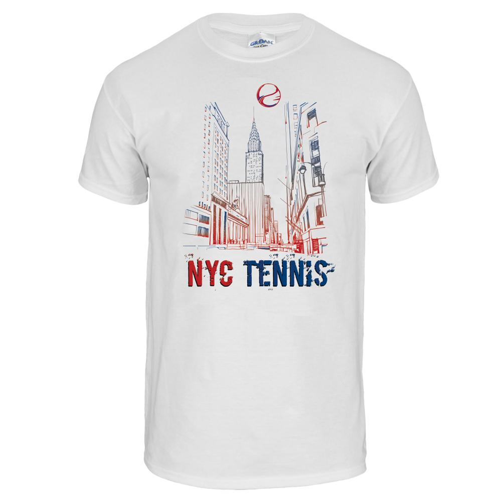 Tennis Express Nyc Tennis Unisex Tee In White Walmart Com