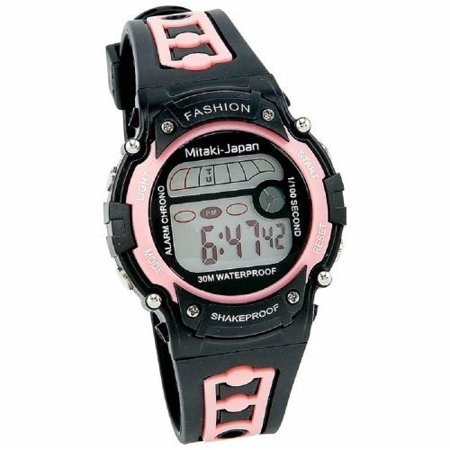 Alarm Watch Stopwatch (Mitaki-japan Ladies Digital Sport Watch Date Function Stopwatch Alarm)