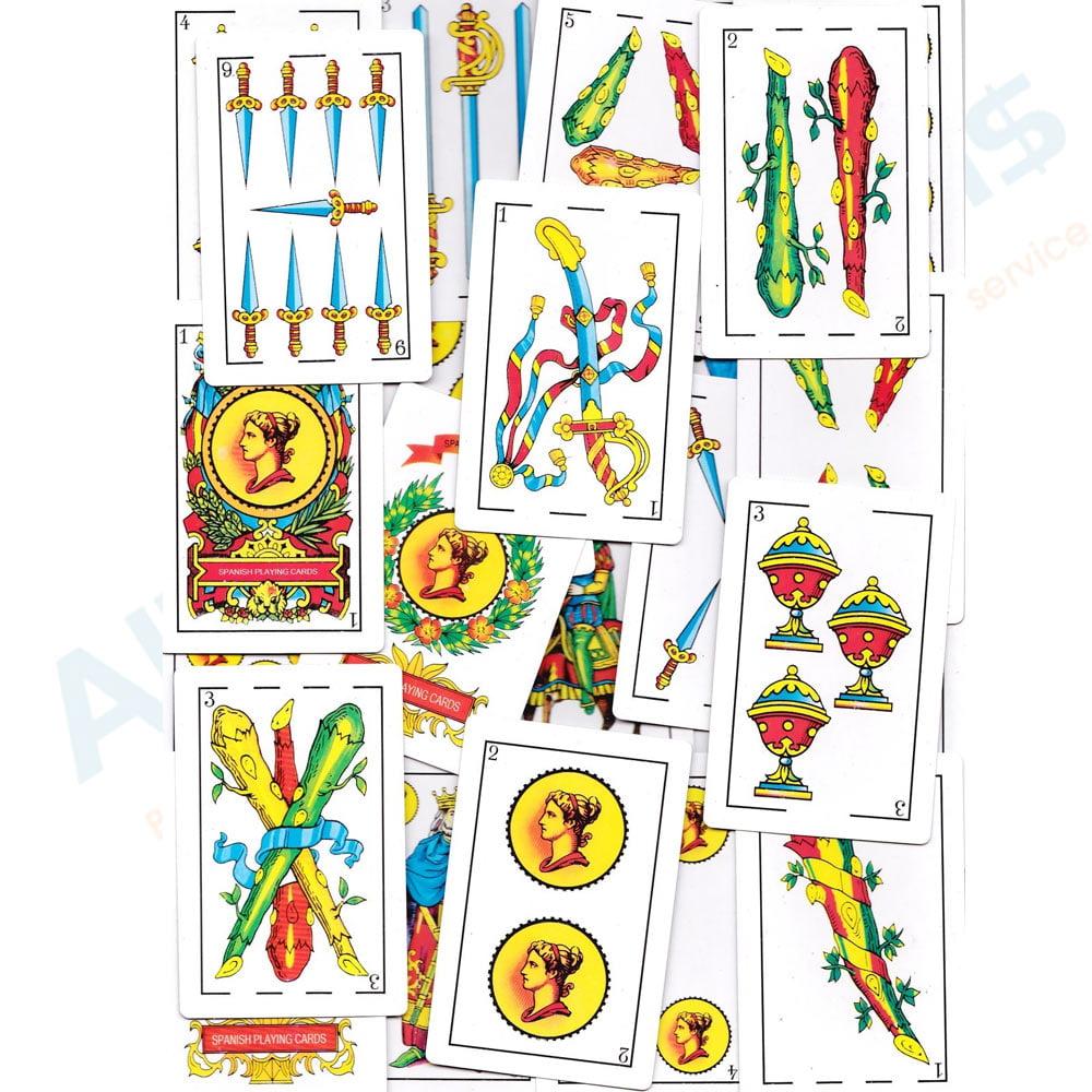 3 Decks Spanish Playing Cards Baraja Espanola 50 Cards Naipes Tarot New  Sealed - Walmart.com