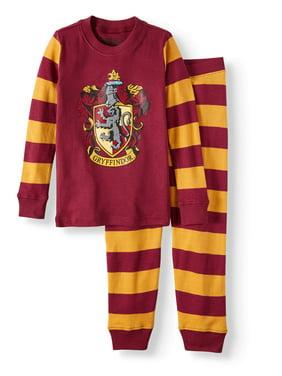 Harry Potter Girls Ravenclaw House Crest Cotton Pajama Set (Little Girls & Big Girls)