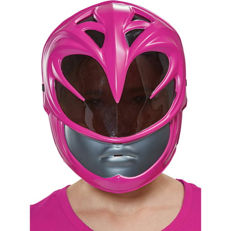 Pink Ranger 2017 Vacuform Mask Girls Child Halloween Costume, One Size - Party City Halloween Masks 2017
