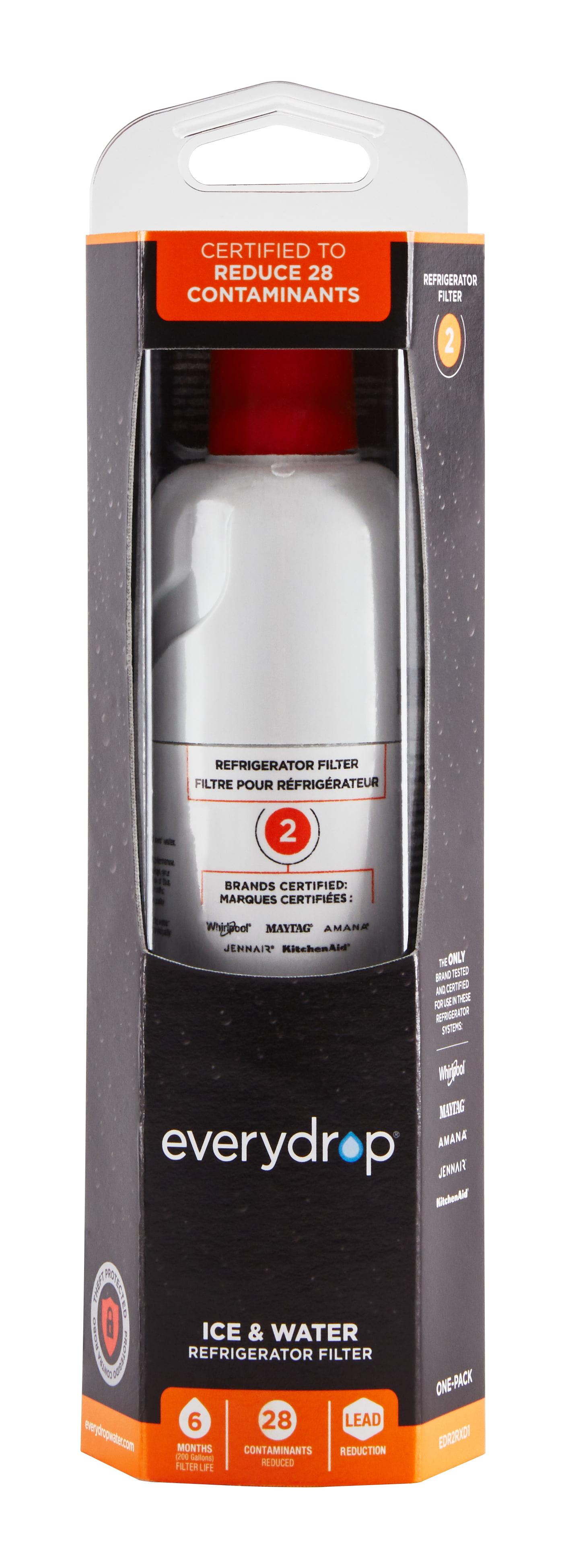 everydrop Refrigerator Water Filter #2 EDR2RXD1 - Walmart.com
