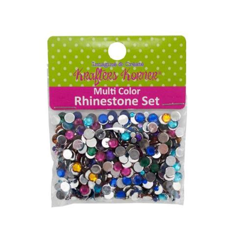 600 piece rhinestone set - assorted colors - Case of 100