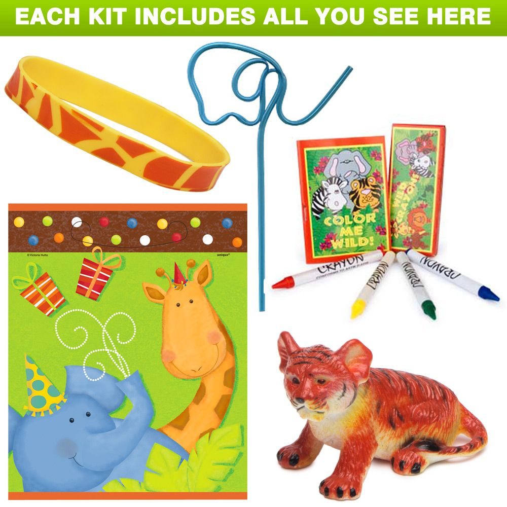 Jungle Birthday Party Favor Kit - Party Supplies