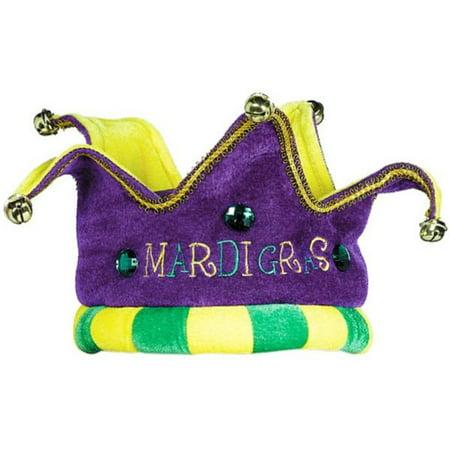 Mardi Gras Royalty Crown Hat Felt Fabric Soft Costume Wear