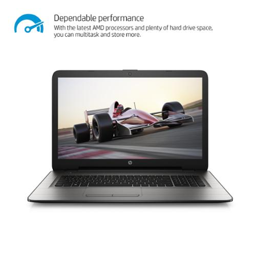 """Hp 17-y000 17-y010nr 17.3"""" Notebook - Amd A-series A8-7410 Quad-core [4 Core] 2.20 Ghz - 4 Gb Ram - 500 Gb Hdd - Amd Radeon R5 Graphics - Windows 10 Home - 1600 X 900 16:9 Display - (w2n12ua-aba)"""