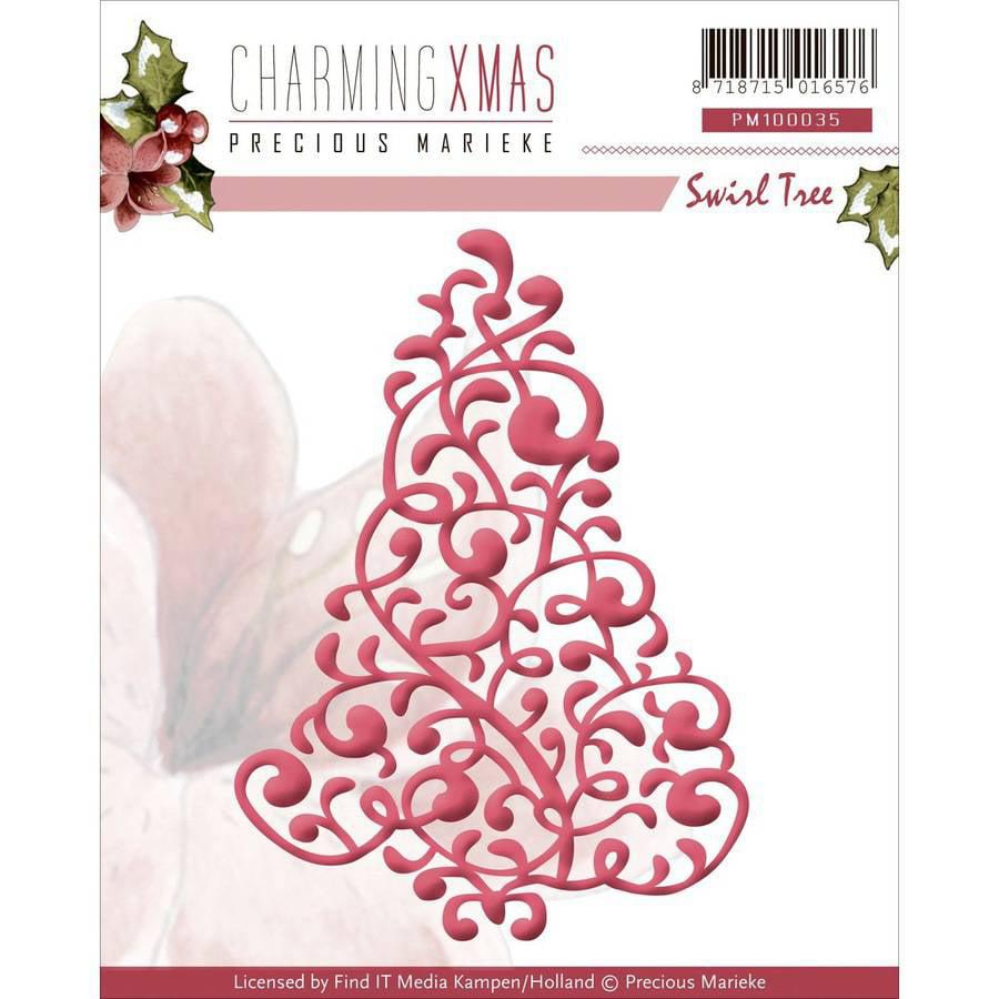 Find It Trading Precious Marieke Charming Christmas Die, Swirl Tree