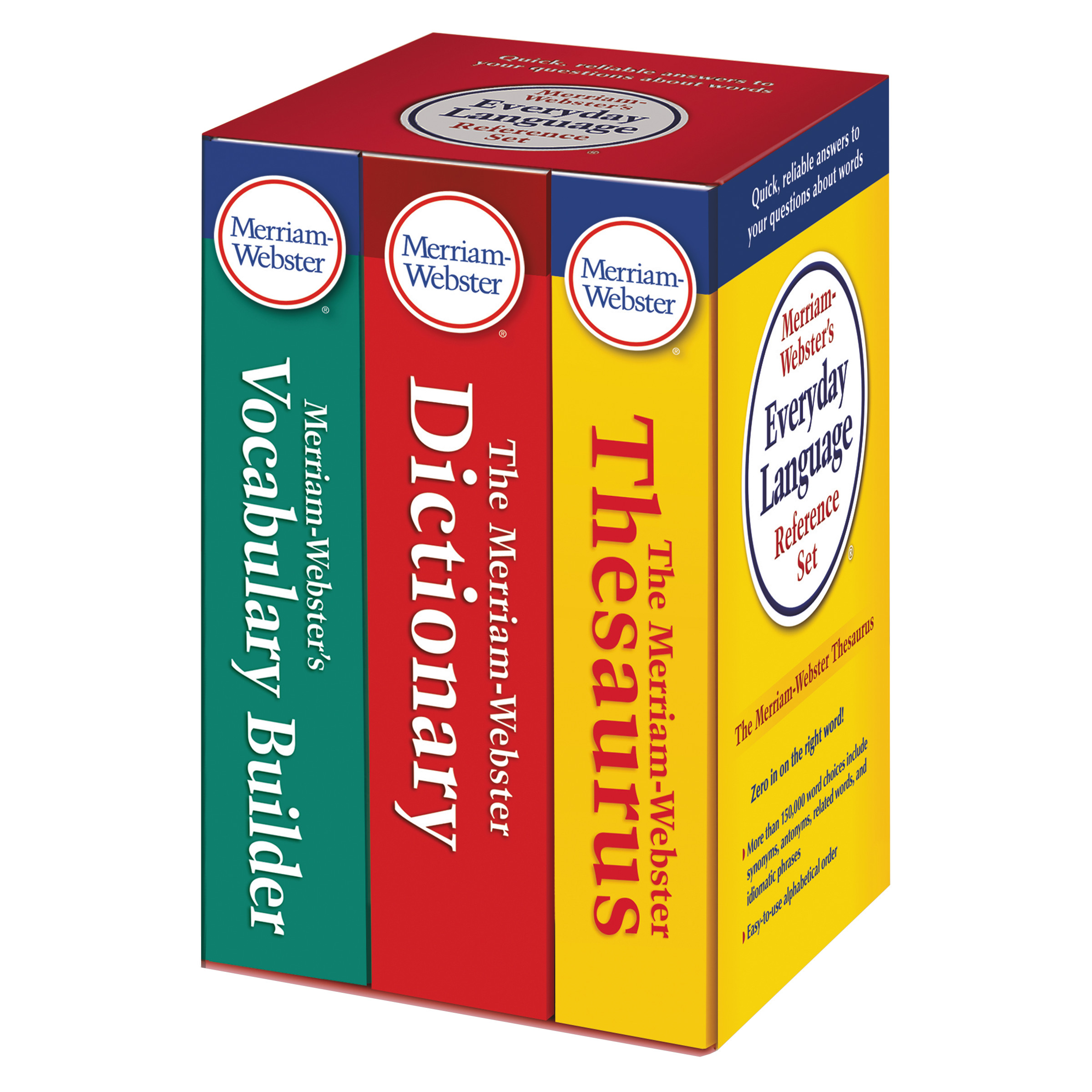Merriam Webster Everyday Language Reference Set, Dictionary, Thesaurus,  Vocabulary Builder - Walmart.com