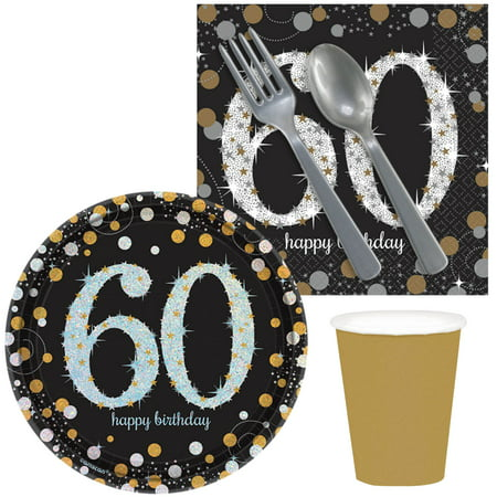 60th Birthday Celebrations (Sparkling Celebration 60th Birthday Snack Pack for 16)