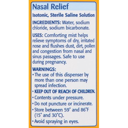 Arm & Hammer Simply Saline Nasal Relief Nasal Mist 4.25 Fl Oz Can