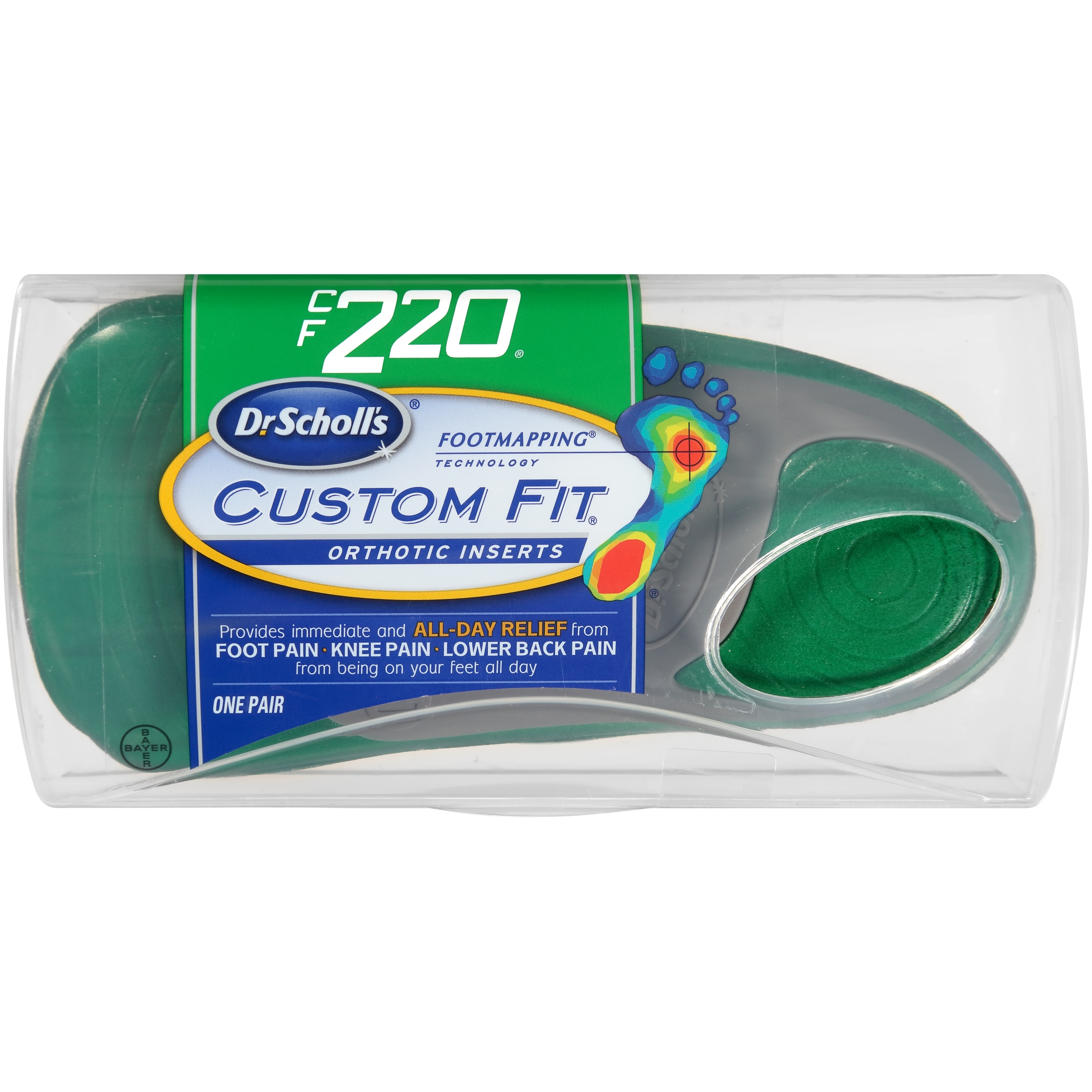 Dr. Scholl's® Custom Fit® Orthotic Inserts CF220, 1 Pair