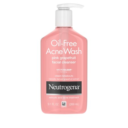Neutrogena Oil-Free Pink Grapefruit Acne Facial Cleanser, 9.1 fl. (Best Facewash For Acne And Dry Skin)