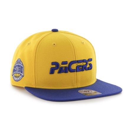 47 Indiana Pacers Sure Shot Two Tone 47 Captain Yellow/Blue Mens Snapback Hat