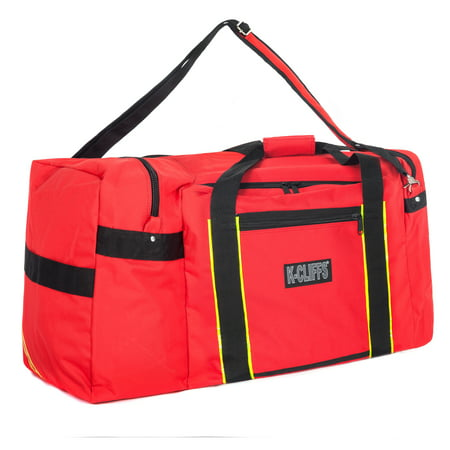 Firefighter Rescue Duffel Heavy Duty Fireman Paramedic Medical Equipment Bags Fire Fighter Gear Tool Travel Bag Helmet Pocket
