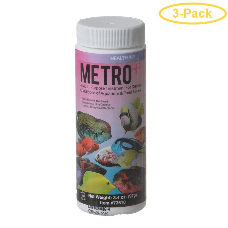 Aquarium Solutions Metro+ 3.4 oz - (Treats 100 Gallons) - Pack of 3