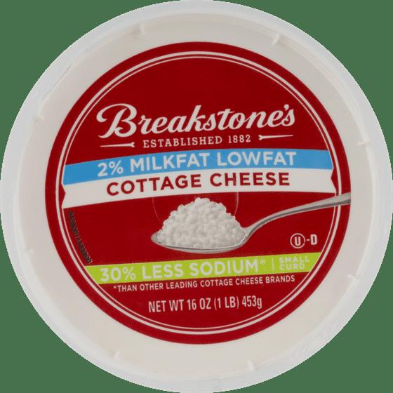 Breakstones Lowfat 30 Less Sodium Cottage Cheese 16 Oz
