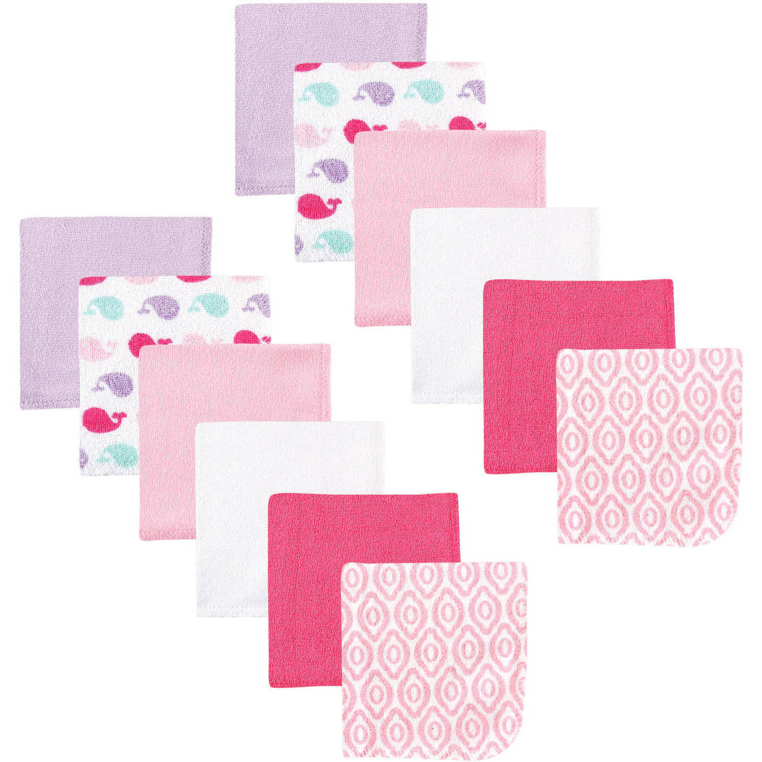 Luvable Friends Washcloths, 12pk, Girl