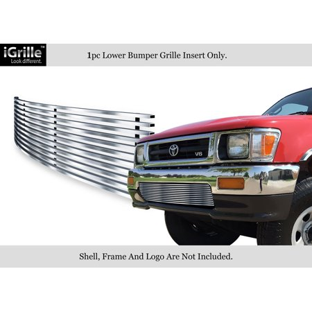 Compatible with 92-94 Toyota Pickup Truck 4WD Stainless Steel Billet Bumper Grille T85121C